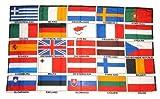Fahne / Flagge Europa 25 Länder Schrift NEU 90 x 150 cm