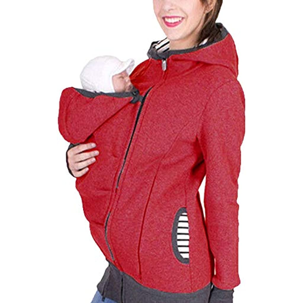 36be7a814d5 Baby Carrier Hoodie Jacket Maternity Coat Kangaroo Style for Mom and Baby  Casual Wearing 3 in 1 Multi-Function Baby Pouch Pregnant Top Baby Wearing  Baby ...