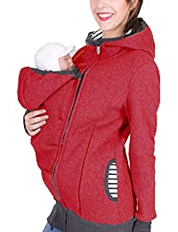 1f6b0ef06336 Sodhue Veste à Capuche Porte-bébé 3 en 1 Manteau Kangourou Multifonction  pour Maman et