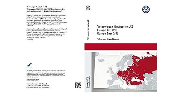 Vw Sd Karte Osteuropa Für Rns 315 Version V8 3aa051866aj Auto