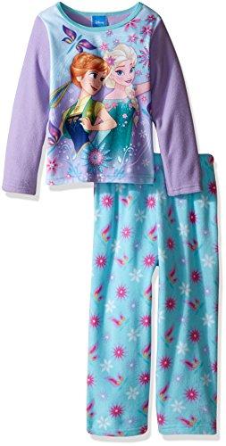 Toddler Frozen Fever Elsa and Anna 2-Piece Fleece Pajama Set, Purple, 2T (Frozen Fever Kleider)