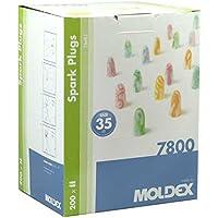 Preisvergleich für 200 Paar Ohrstöpsel – Spark Plugs Soft (7800) von Moldex - Gehörschutz mit SNR 35dB - Paarweise hygienisch und...