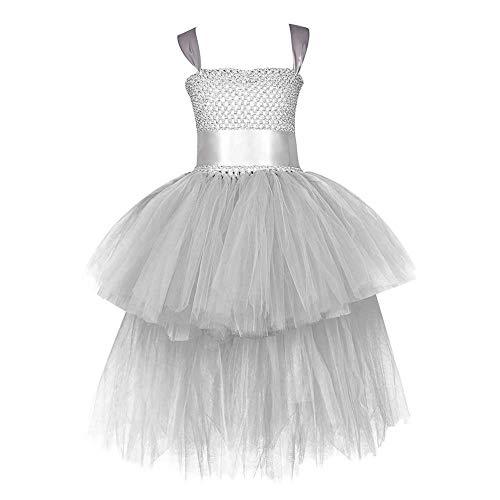 GLXQIJ Kinder Mädchen Tutu Kleid Spitze Mesh Blume Hochzeit Brautjungfer Prinzessin Pageant Party Kleid Prom - 80 Prom Kleider Kostüm