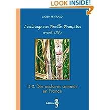 II-8 Des esclaves amenés en France: L'esclavage aux Antilles Françaises avant 1789 (French Edition)