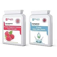 Himbeerketon + Colon Cleanse Detox Diät Abnehmen - Premium-Qualität - Fettstoffwechsel
