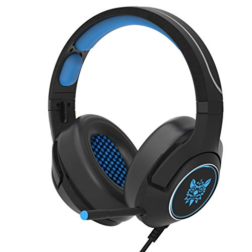 99native ONIKUMA K2A Gaming-Headset Stereo-Gaming Noise-Cancelling Headset mit Kabel, Headset für Xbox One S, Xbox One, Xbox One X, PS4 Pro, PS4-Tablet (Blau)