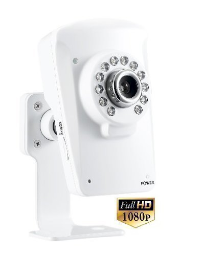 1080p Full HD Wireless WiFi IP Security Camera. All-in-one home CCTV camera with built-in Cloud DVR. Quick setup, view Live and playback clips using our Free iPhone/iPad/Android apps. IR Night Vision, Motion Sensor with in-app alerts, 95 Degrees Wide Angle Image and more. UCam247i-1080HD.