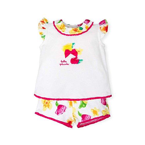 TUTTO PICCOLO Baby-Mädchen Bekleidungsset 4599S18 Weiß (Optical White W00) 74 cm (9Monate) Tutto Piccolo