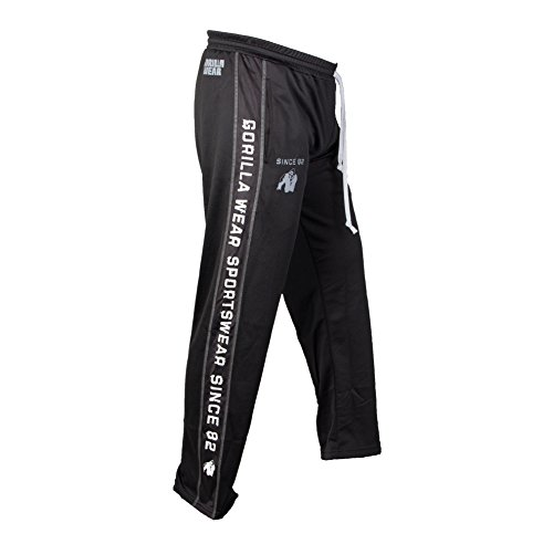 Gorilla Wear Pantaloni funzionali Nero/Bianco Mesh Black - Black / White / Matte Silver