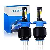 Focos LED para faros delanteros de coche H4 Diodo COB de haz alto/bajo, 10000 lm (2 x 5000 lm) 72 W (2 x 36 W) 6500 K blanco puro