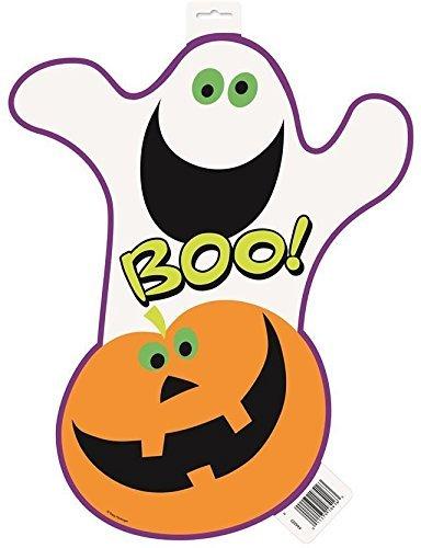 Kürbis Halloween Boo Ausschnitt ca. 16,5 cm, 6 Stück