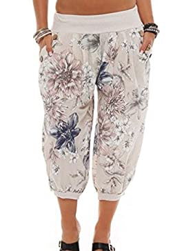 Mujeres Nuevas Señoras Sueltan Los Pantalones Ocasionales Impresión Moda Floral Recortaban Elásticos ¾ Cortocircuitos...