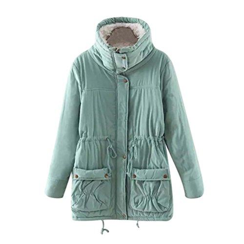 wholesale dealer 1df33 a9998 LvRao Damen Lang Winterparka mit Kapuze Fellfutter Winter ...