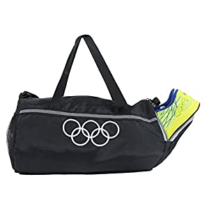 POLESTAR Black 26 lt Duffel Gym Bag with Shoe Pocket