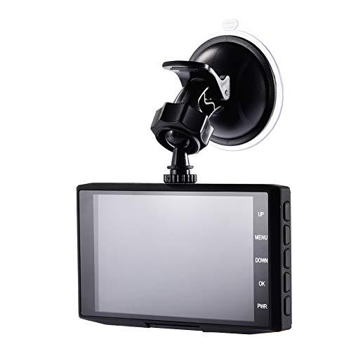 luckything - Videocamera per Auto, Full HD, 1080P, Full HD, DVR, Schermo LCD da 4', grandangolo 170°, sensore G, WDR, Monitor di parcheggio, Registrazione Loop, rilevamento Movimento