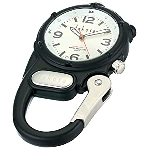 Dakota Watch Company Mini Clip with Microlight Dial, Black/Silver