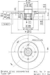 Disque de frein Bearing Disc Line–Brembo 08.5834.25