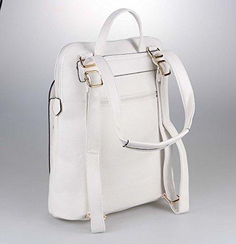 OBC Only-Beautiful-Couture, Borsa a zainetto donna Rosso Bordo 32x32x14 cm ca.: 32x32x14 cm (BxHxT) bianco