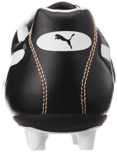 Puma Classico Ifg, Chaussures de Football Mixte Adulte Noir (Black/White/Puma Gold)