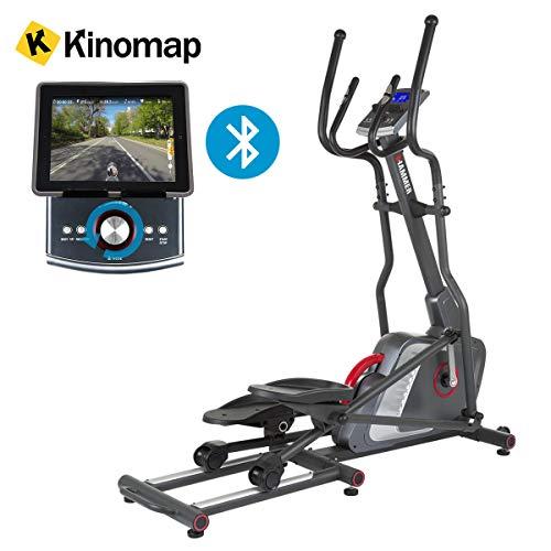 HAMMER Premium Ellipsentrainer Speed-Motion BT - APP Steuerung für Smartphone - Bluetooth Anbindung - Kompatibel mit: Kinomap, iConsole+ und BitGym - 22 Trainingsprogramme