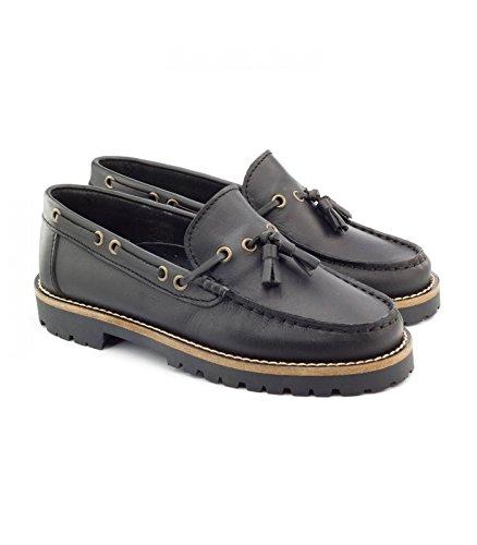 Boni floch, Chaussures Garçons en Cuir Noir