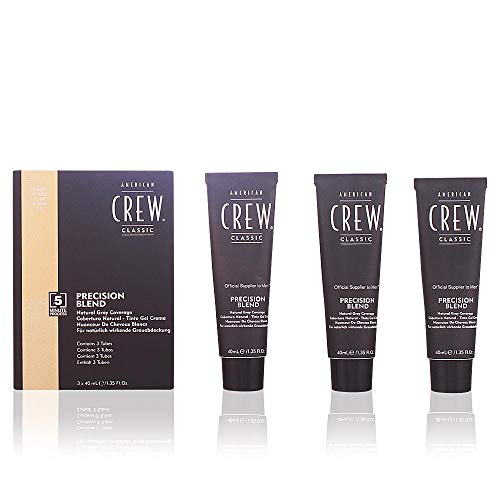 American Crew Precision Blend Light 7-8 Haartönung, 1er Pack (3 x 40 ml) (Crew Precision Shave Gel)