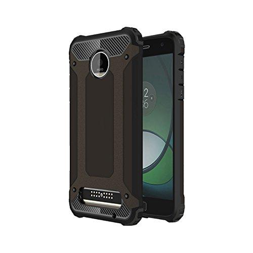 Guran® Hülle Für Lenovo Moto Z Play (5.5 Zoll), [Stoßfestes Etui] Raffinierte Kombination aus Rutschfestem TPU Zubehör mit Ganzkörper-Rugged Case (Schwarzes Gold)