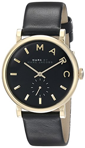 Marc Jacobs Damen Armbanduhr Leder schwarz MBM1269
