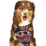 Osmykqe Cane Bandana Vigile del Fuoco Equipaggiamento Bavaglino per Cani Dalmata Bavaglio per Testa di Felce per Gatti Pupply Big Dog Soft