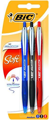 BIC Atlantis Premium–Bolígrafos de punta de bola retráctil, colores surtidos (Pack de 3)