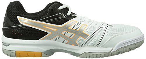 Asics Gel-rocket 7, Chaussures de Volleyball Homme Blanc (White/black/vermilion)