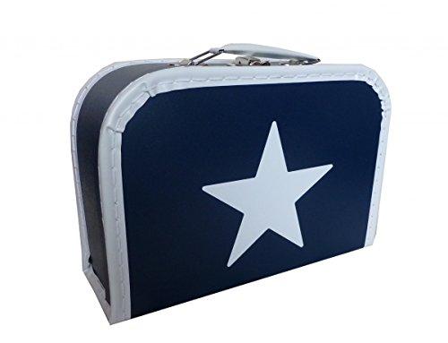 Valise en carton bleu avec étoile 25 cm