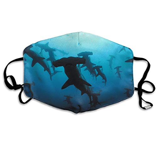 Mouth Masks Hammerhead Sharks Earloop Face Mask - Adjustable Elastic Strap for Travel Cleaning, Anti Smog Dustproof Respirator, Half Face Mouth Mask/Cover