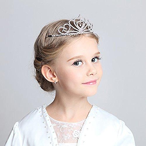 Kind Kristall Tiara Krone für Blume Mädchen, Sparkling Prinzessin Kostüm ()