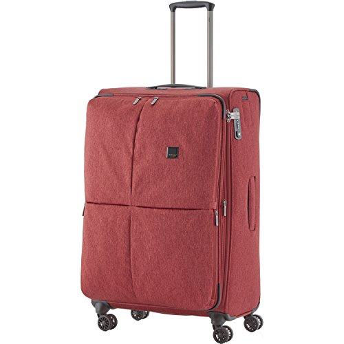 """TITAN Valise trolley """"Square"""" avec 4 roues anthracite Koffer, 78 cm, 126 liters, Schwarz (Anthracite) Rot (Rouge)"""