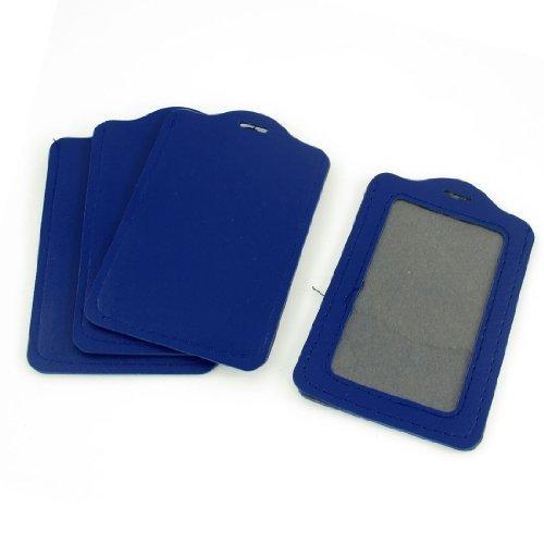 4 Piezas Azul Claro Imitación De Piel Vertical Negocio Credencial Porta Tarjeta De Crédito