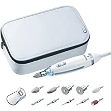 Beurer MP62 Set Manicura Pedicura Profesional, 10 accesorios incluidos, con luz
