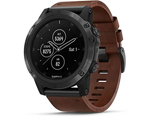Garmin GPS-Multisport-Smartwatch Fenix 5 Plus Saphir – Music-Player, 24/7 Herzfrequenzmessung am Handgelenk, GPS, Mobile Payment via NFC - inkl. Bluetooth Headset