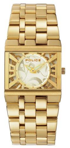 Police - GLAMOUR SQUARE PL10501BSG/06MA - Montre Femme - Quartz - Bracelet Acier Inoxydable Doré Jaune