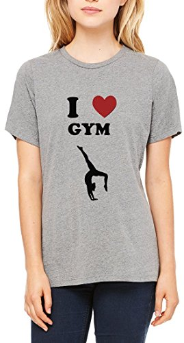 I Love Gym Gymnastics Women's T-shirt Gris