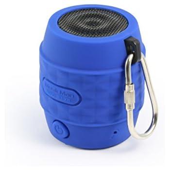 MusicMan BT-X11 wasserfest NANO Bluetooth Lautsprecher blau