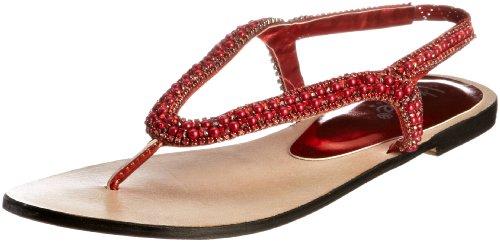 Unze Evening Sandals, Sandali infradito donna Rosso (Rot (L18353W))