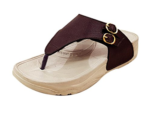 Miss polo Women and Girls Casual Wear Wedges sandals- Brown  available at amazon for Rs.249