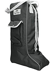 Bolsa para botas, Equi-Thème, noir, passepoilé gris