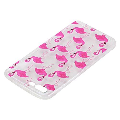 Pour Apple iphone 7 plus Plus (5,5 Pouces) Coque ZeWoo® Étui en Silicone TPU Housse Protecteur - HX014 / Flamants Roses HX014 / Flamants Roses
