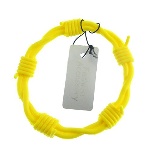 herren/jungen-gelb stacheldraht silikon armreif