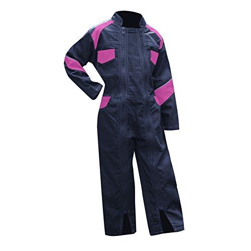 LMA 403500Fiore combinazione bicolore doppio chiusura collo ufficiale per bambini, Blu scuro/rosa, 8A