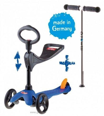 Micro Mini Micro 3in1 Roller Scooter mit Sitz blau Neu