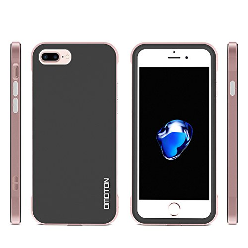Coque iPhone 7 Plus Case Mat, OMOTON Etui De Protection TPU, Housse Coque Pour iPhone 7 Plus Rose D'Or Gold