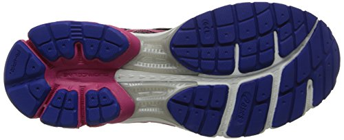 Asics Gel Flux 2 Grey Womens Trainers Onyx/Hot Pink/Blue